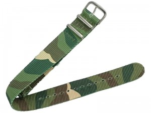Fabric strap for the watch 20mm camo at Wasserman.eu