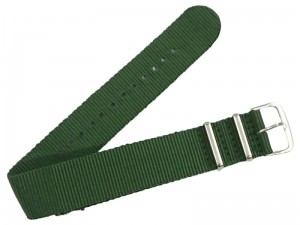 Cloth strap 22mm dark green at Wasserman.eu